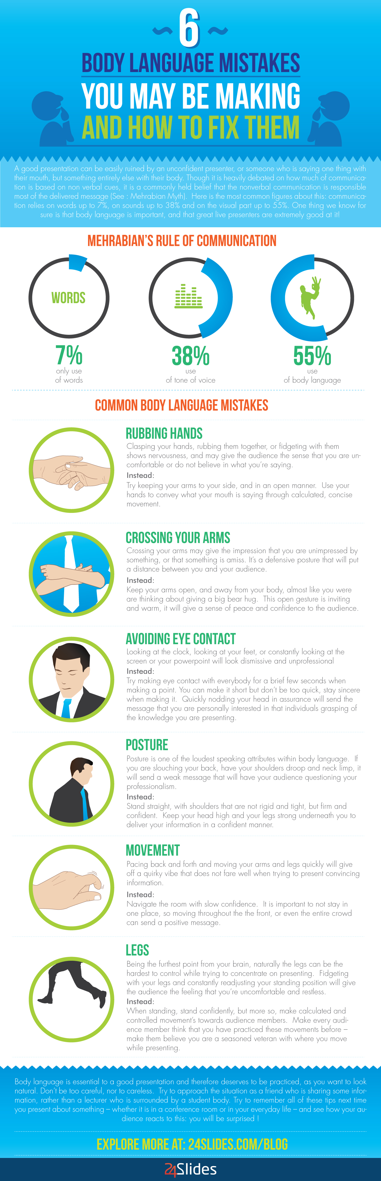 [INFOGRAPHIC] Body Language : 6 Mistakes You May be Making And How to Fix Them - An Infographic from BLOG