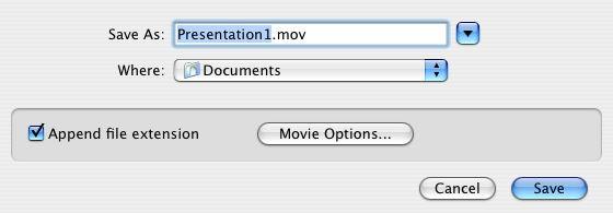 PowerPoint convert to Movie
