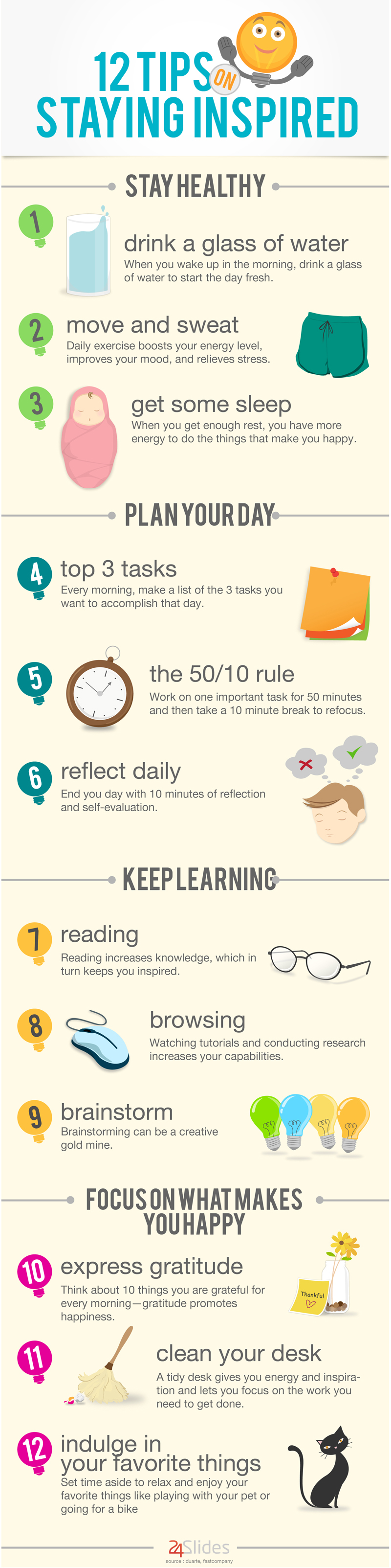 [INFOGRAPHIC] 12 Tips On Staying Inspired - An Infographic from BLOG