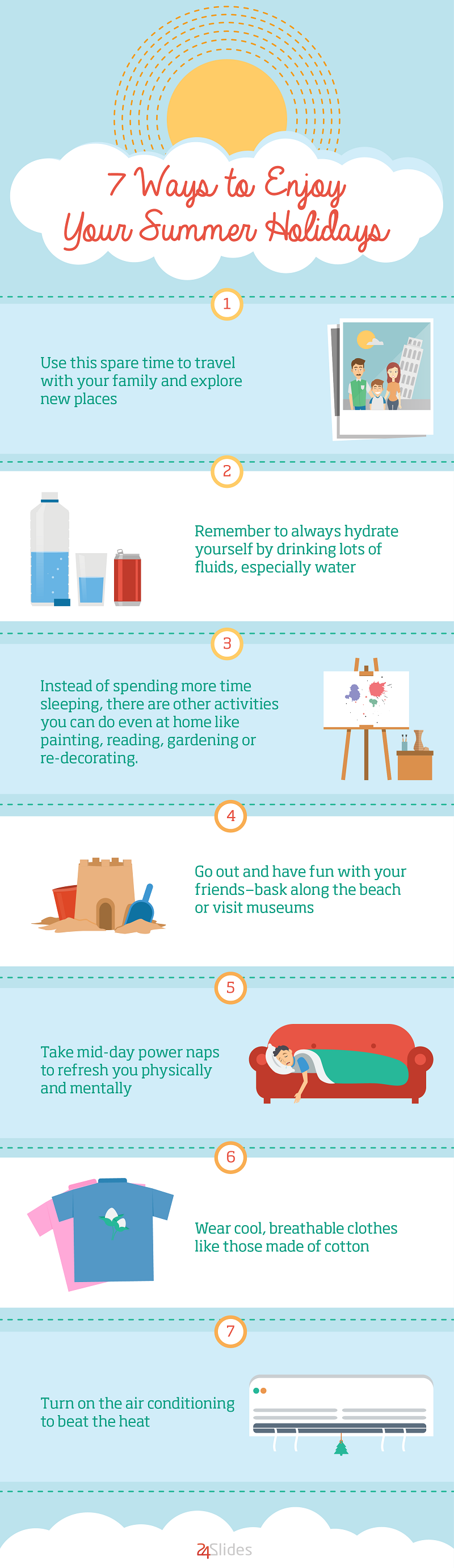 [INFOGRAPHIC] 7 Ways to Enjoy Your Summer Holidays - An Infographic from BLOG