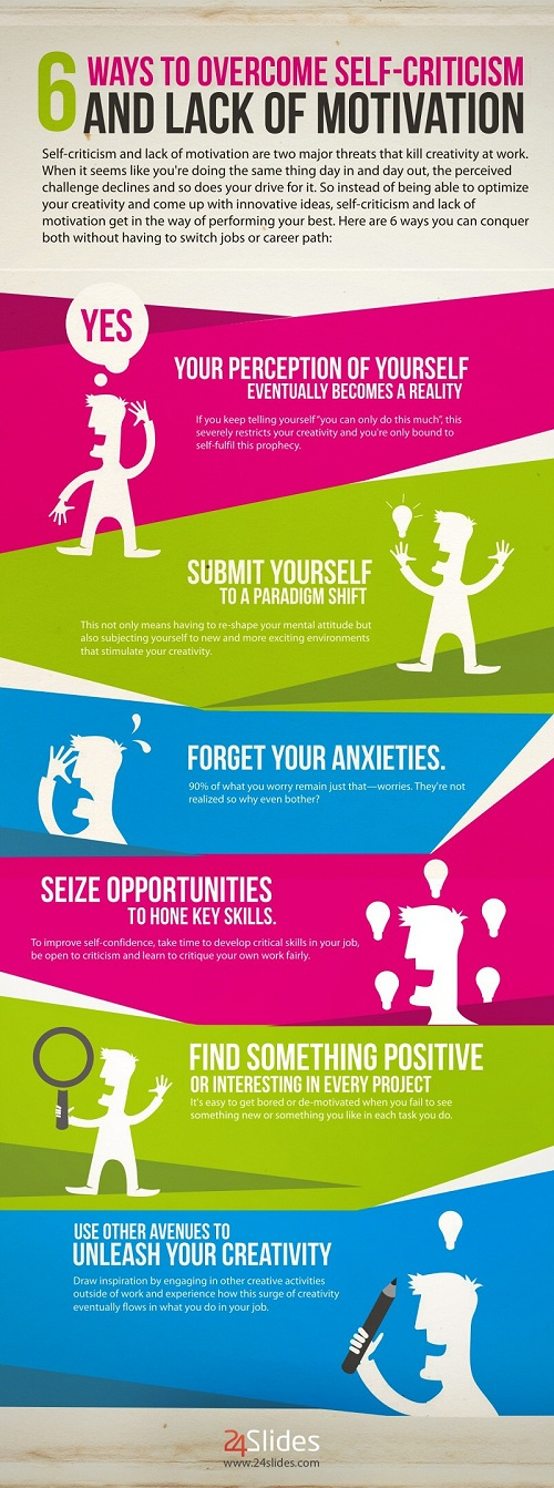 [INFOGRAPHIC] 6 Ways to Conquer Self Criticism - An Infographic from 24Slides Blog