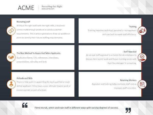 PowerPoint Design Sample - Allignment