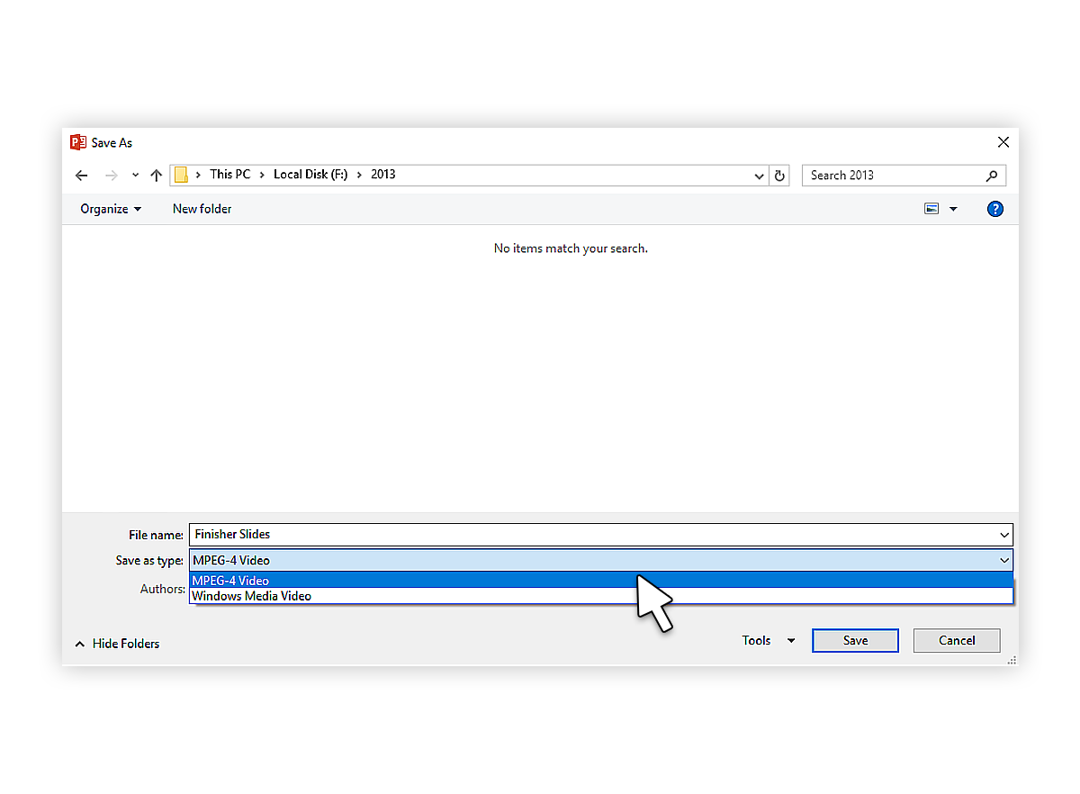 Embedding A Youtube Video In Powerpoint 2011, 2013 How To Convert  Ppttovideo2013_6