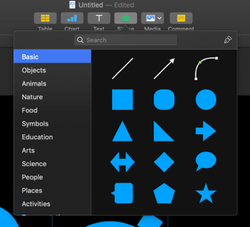 keynote - working with shapes