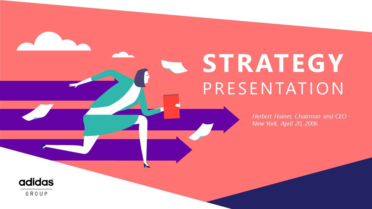 PowerPoint slide in playful design style