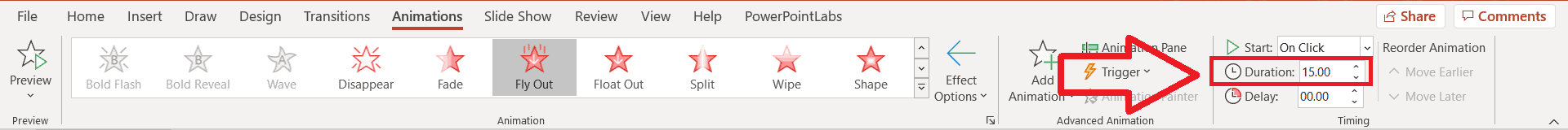 PowerPoint timer