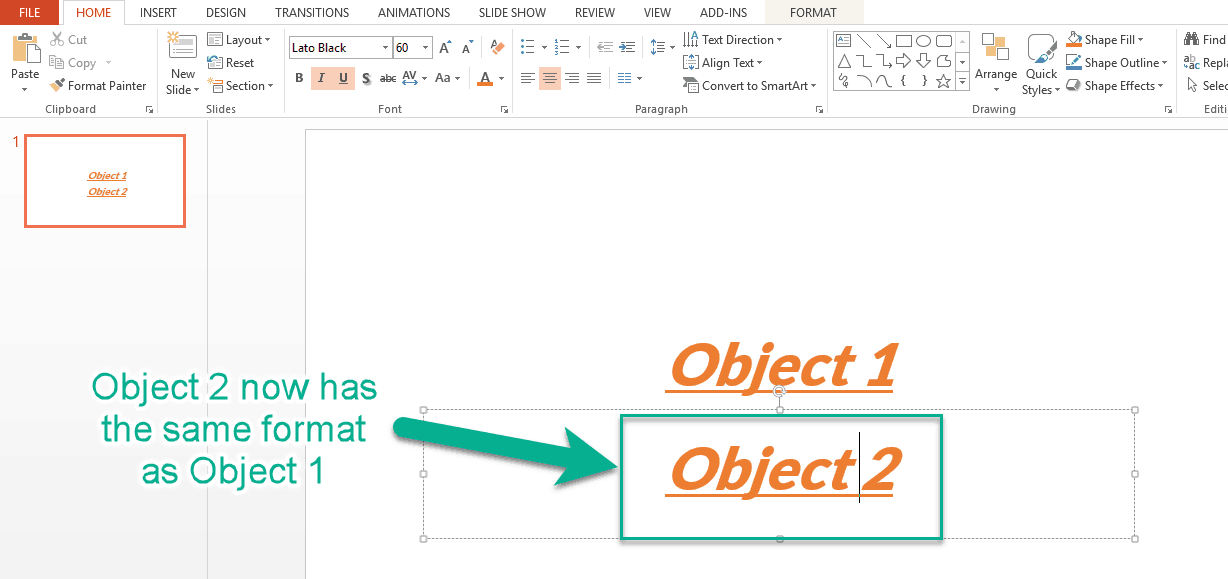 Format Painter in PowerPoint