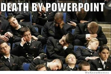 Great PowerPoint presentations don't bore people to death
