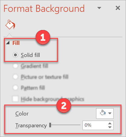How to use single or solid color background in PowerPoint.