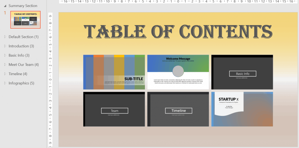 I edited my Summary Zoom slide in PowerPoint to show you that you can make it as unique as you want