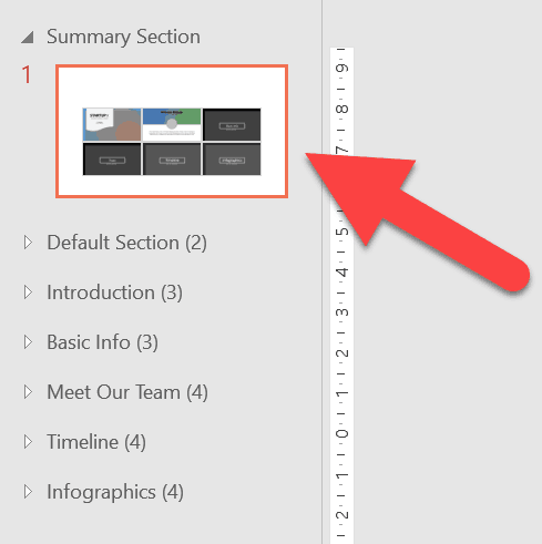 PowerPoint has automatically added a Summary Section to my PowerPoint file