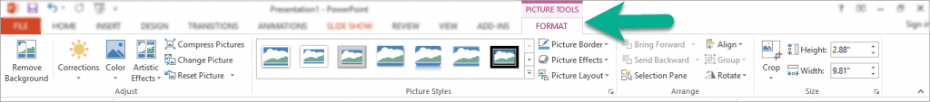 How to crop an image in PowerPoint – simple crop in square or rectangle shape
