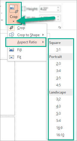 How to crop an image to a common aspect ratio in PowerPoint