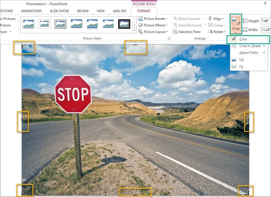 How to do a simple crop in PowerPoint