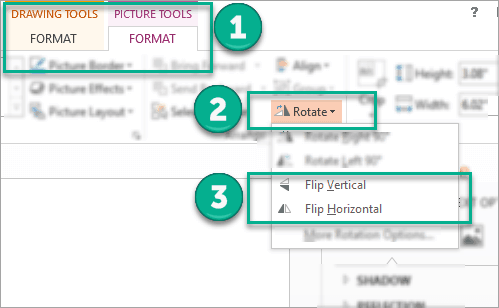 Tutorial on how to flip an image in PowerPoint – how to access the flipping options