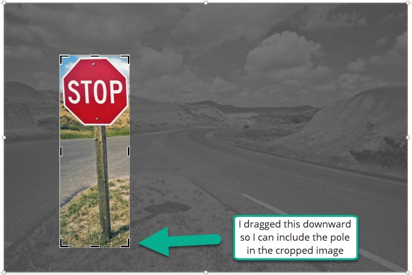 Cropping an image in rectangle shape in PowerPoint
