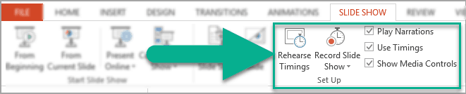 Rehearse your PowerPoint slideshow's timings