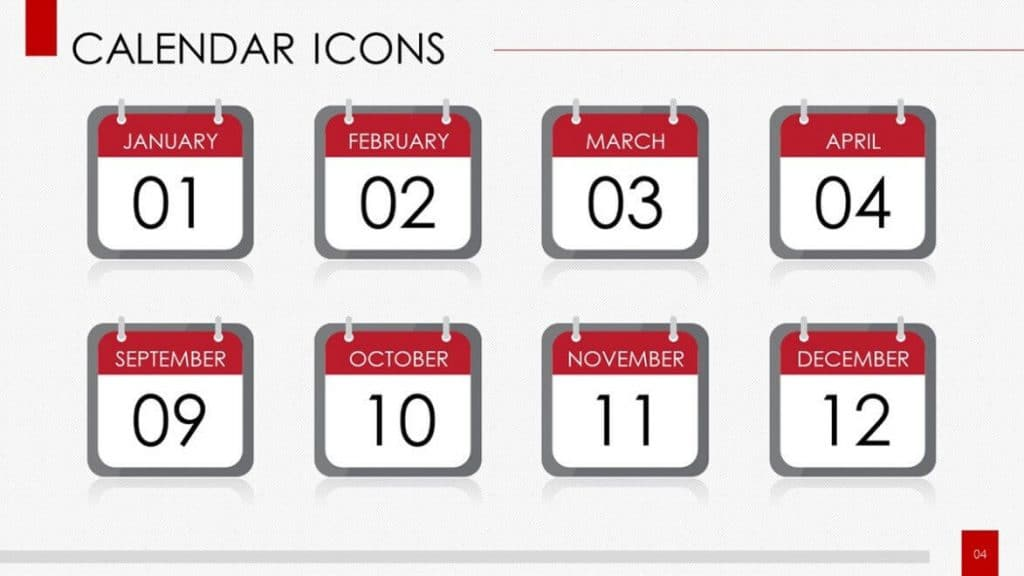 Calendar Icons Template Pack