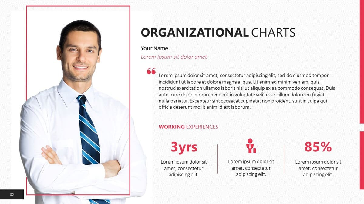 individual level slide for org chart template