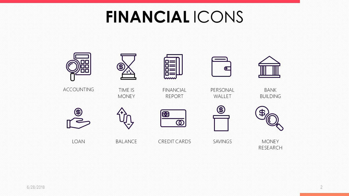 Financial Icons PowerPoint Template by 24Slides