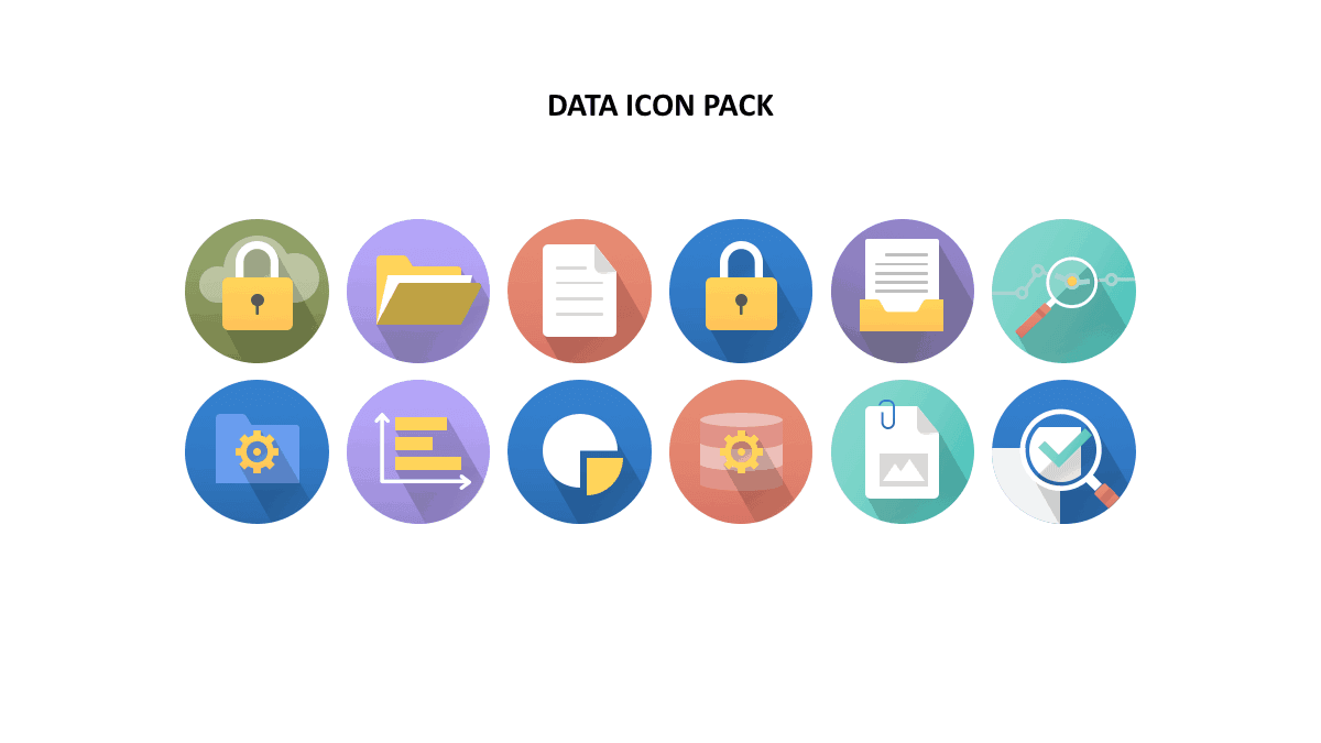 Presentation Data Icons Template Pack by 24Slides
