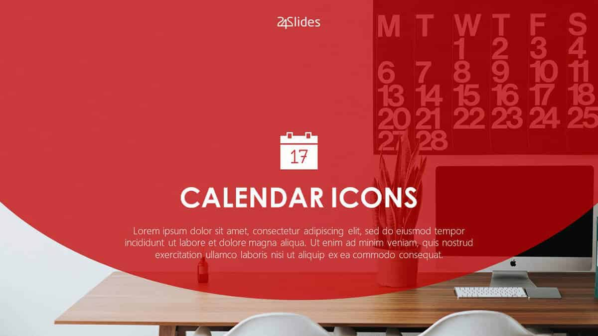 Calendar Icons Template Pack by 24Slides