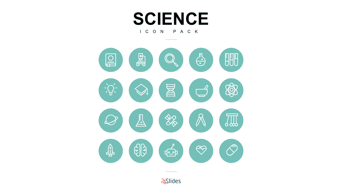 Science Icon Template Pack by 24Slides