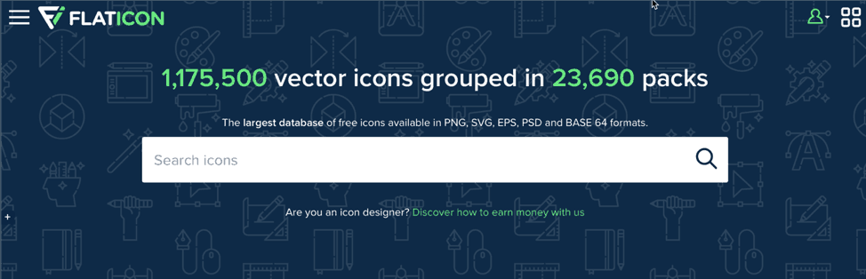 free presentation icons PowerPoint template from flaticon