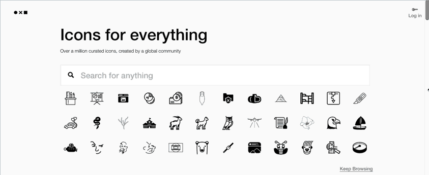 free presentation icons PPT template from noun project