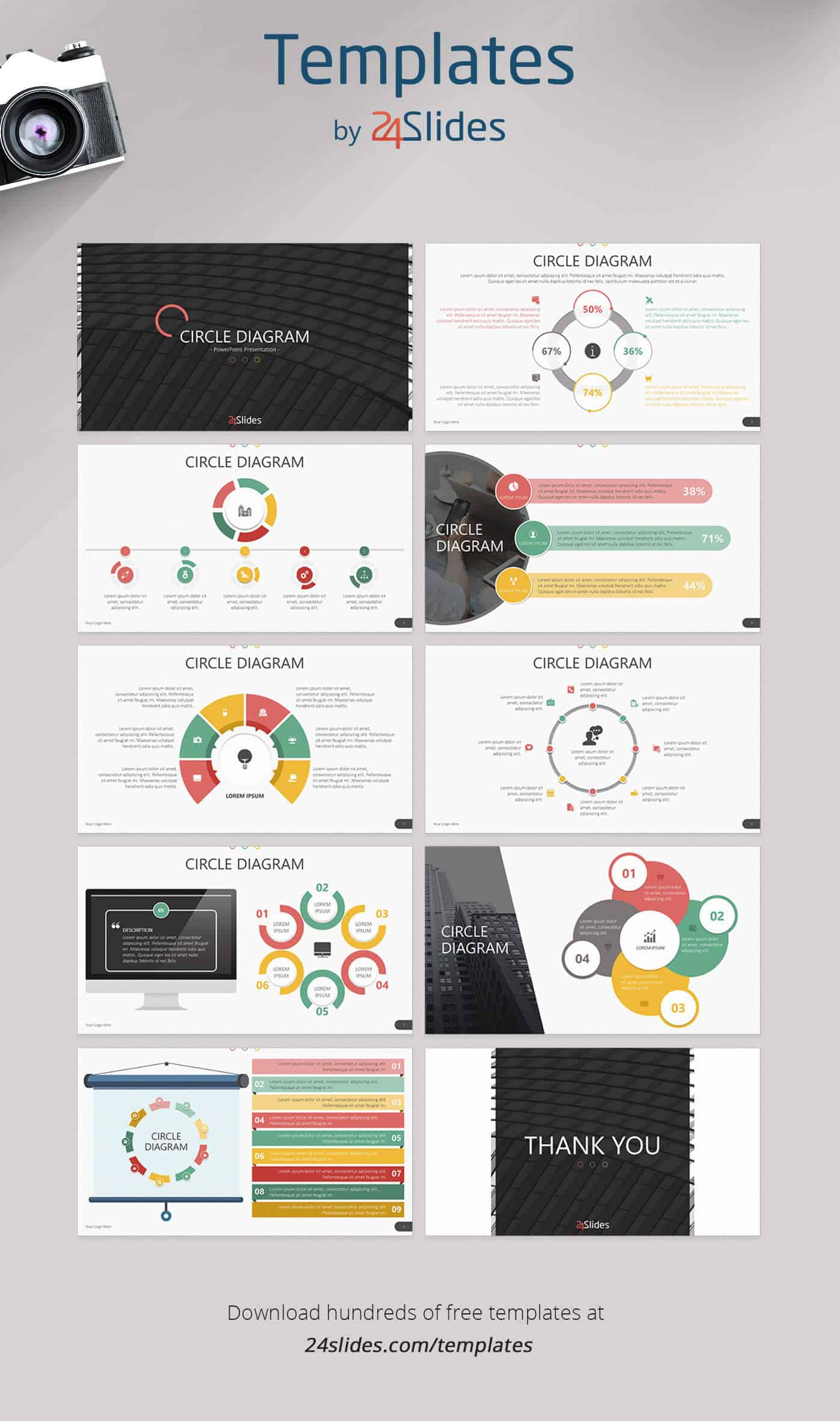 24 Fun and Colorful Free PowerPoint Templates With Regard To Powerpoint Photo Slideshow Template