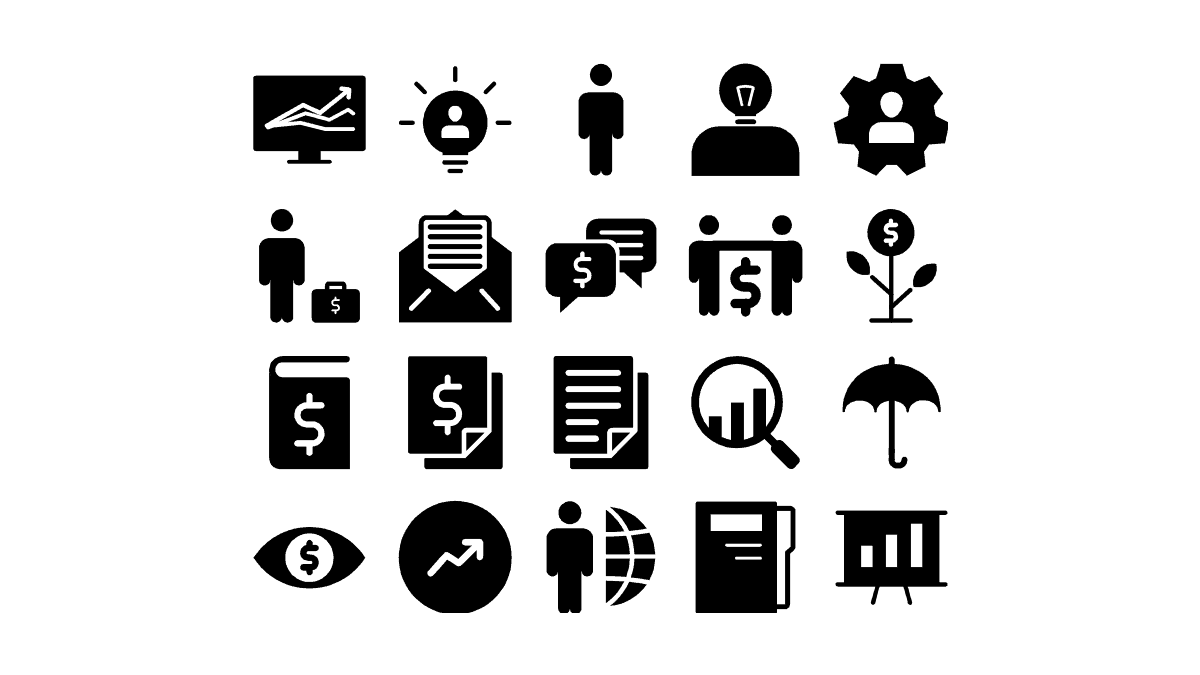 General PowerPoint Icons Template cover slide