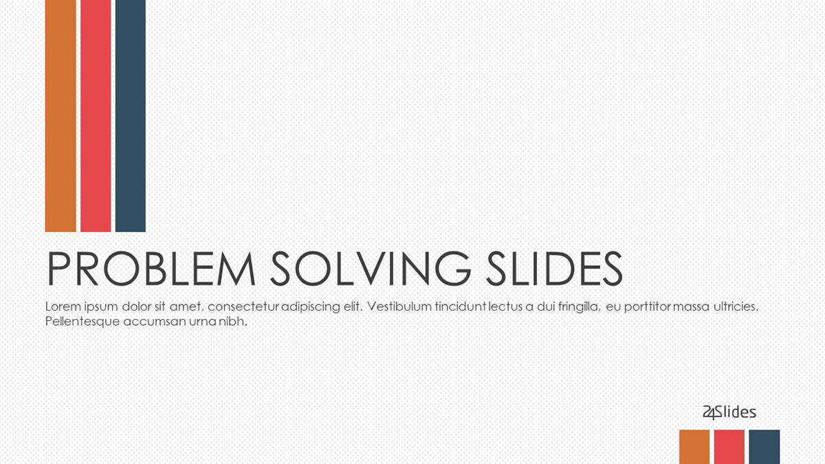 Problem Solving PowerPoint Template cover slide