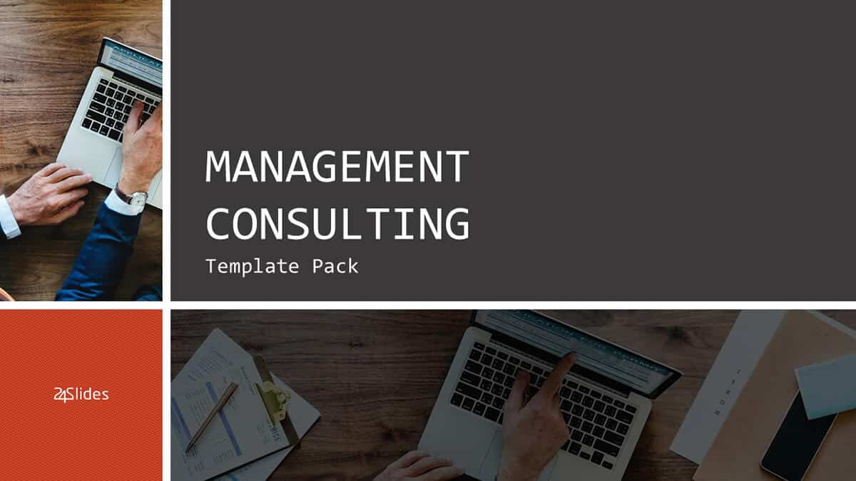 Management Consulting PowerPoint Template Pack cover slide