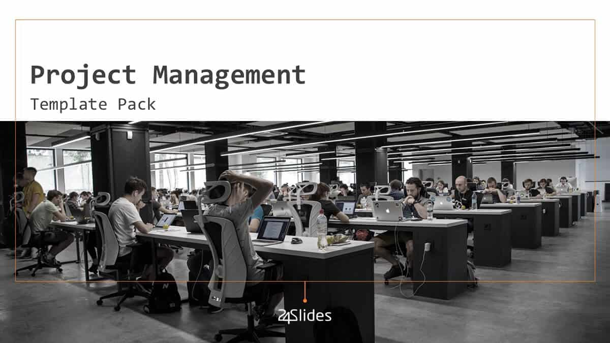 Project Management PowerPoint Template cover slide