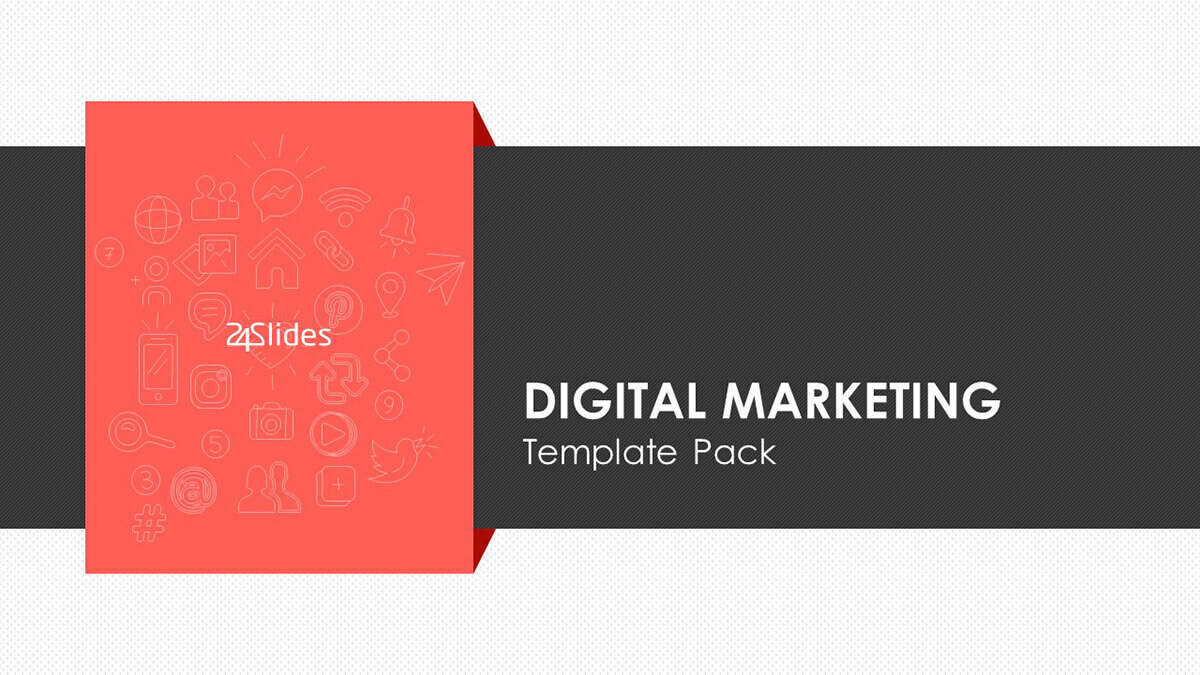 Cover slide of Digital Marketing PowerPoint Template Pack