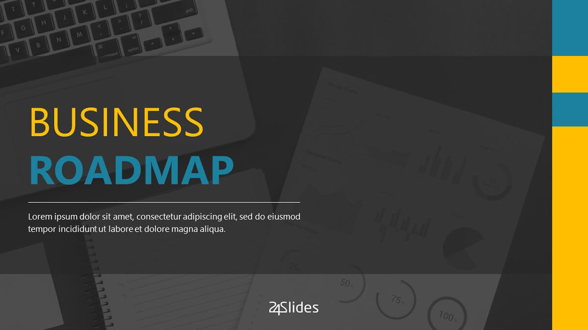 Business Roadmap PowerPoint Template Pack cover slide