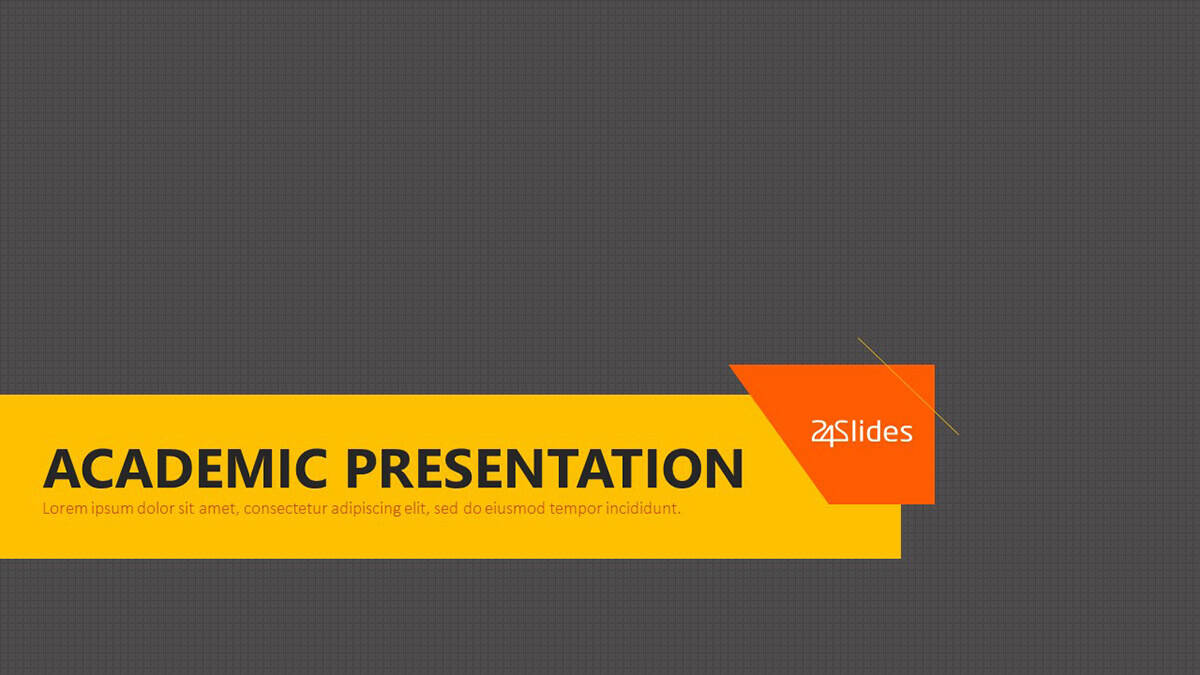 Cover slide of Academic Presentation PowerPoint Template Pack from 24Slides