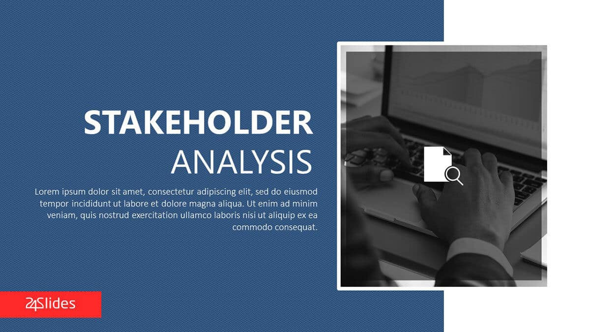 Stakeholder Analysis PowerPoint Template cover slide