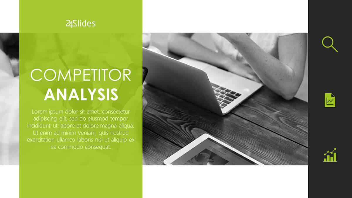 Competitor Analysis PowerPoint Template cover slide