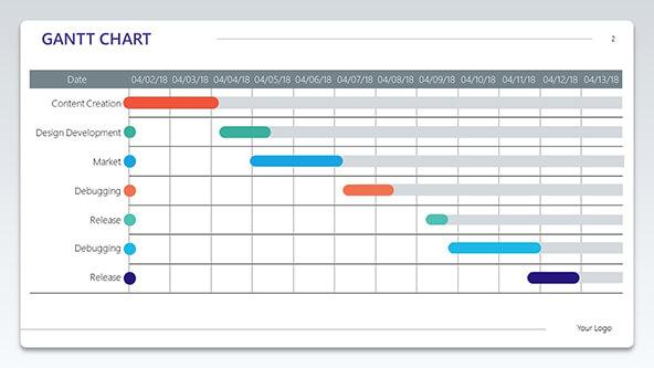 Corporate Gantt Chart Template Pack cover slide