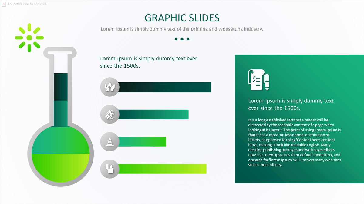 Science Graph PowerPoint Template Pack cover slide