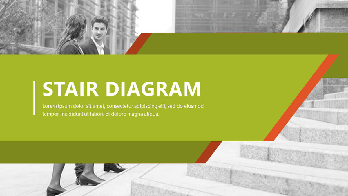 Stair Diagram PowerPoint Template Pack cover slide