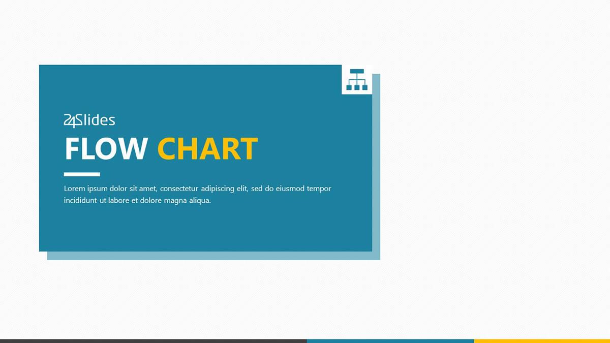 Flow Chart PowerPoint Template Pack cover slide