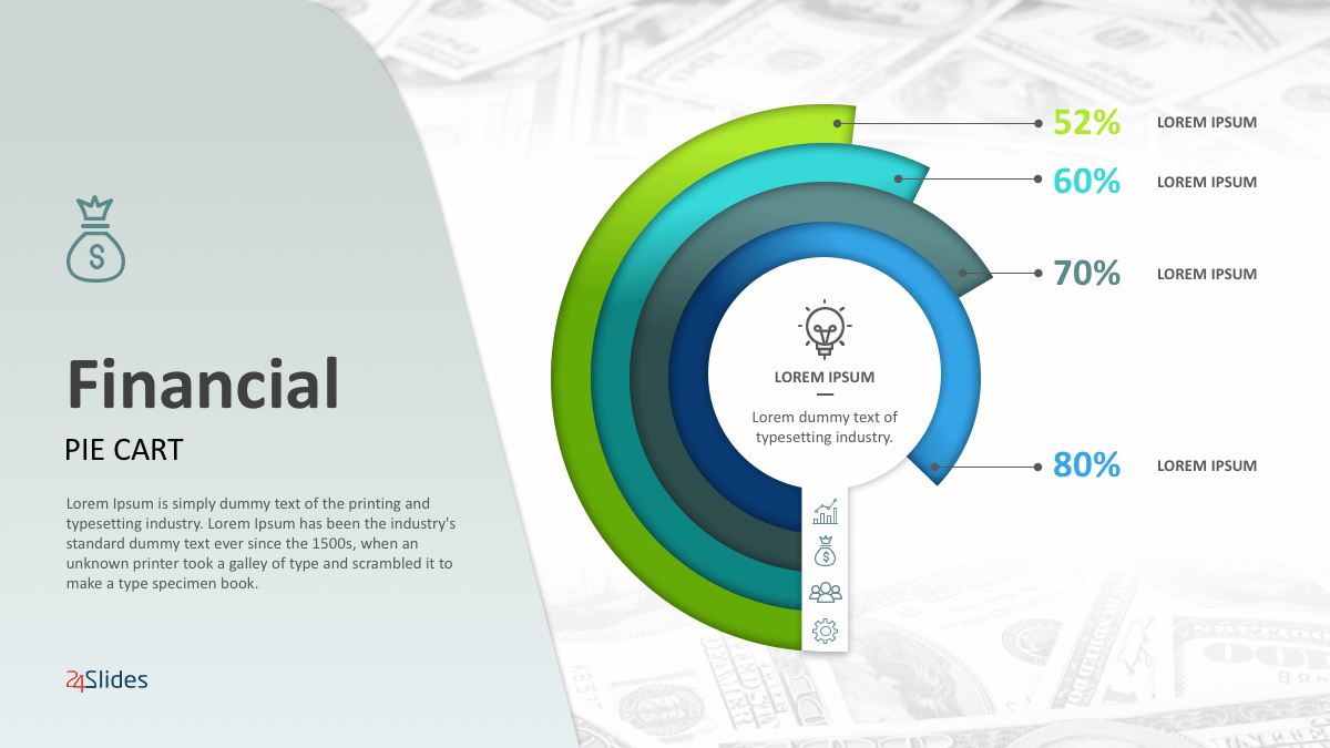 Financial Pie Graphs PowerPoint Templates cover slide