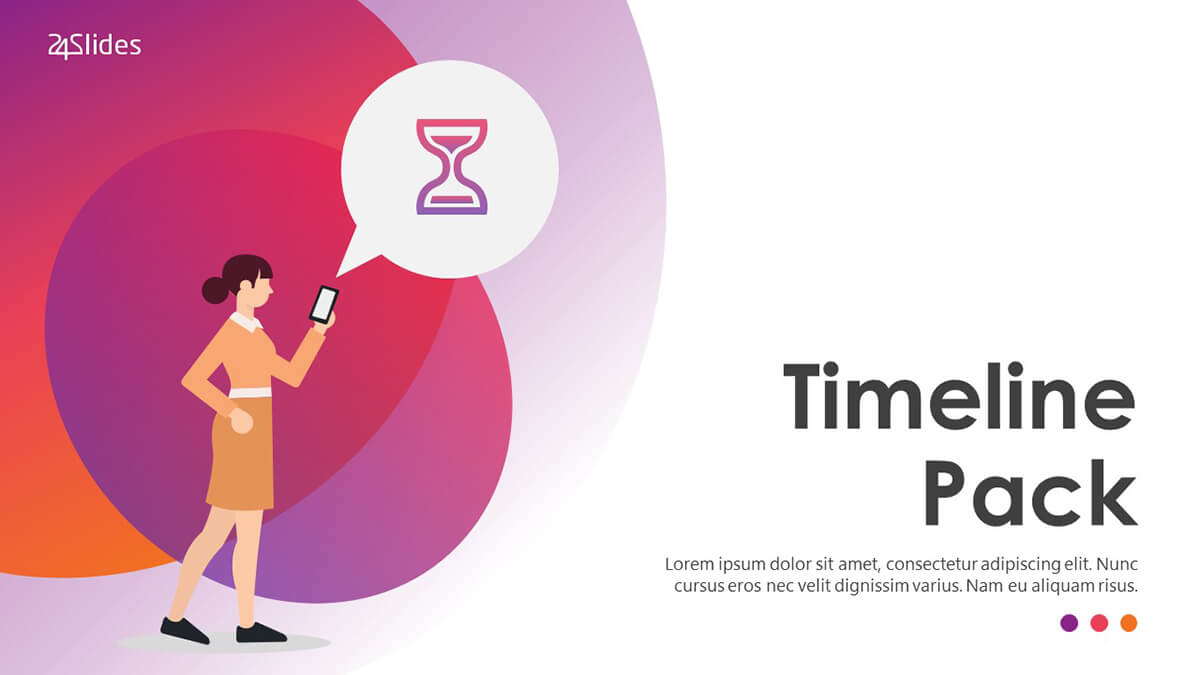 Creative Timeline PowerPoint Template Pack cover slide