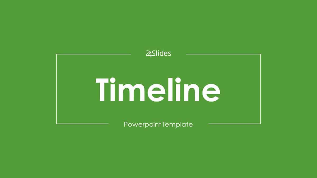 Timeline PowerPoint Template Pack cover slide