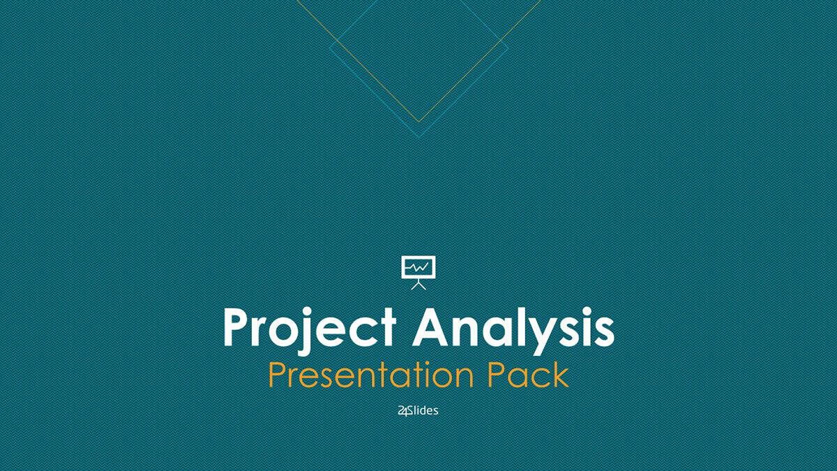 Project Analysis PowerPoint Template Pack cover slide