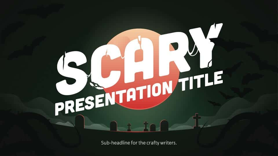 Halloween PowerPoint Template cover slide