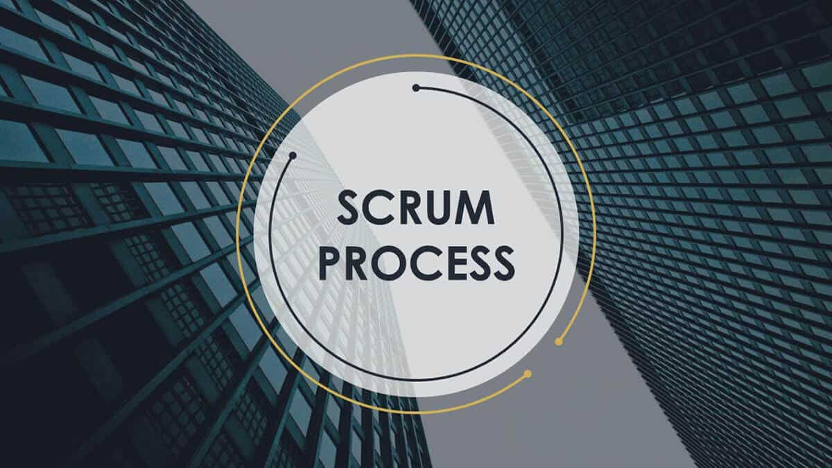 Scrum Process PowerPoint Template cover slide