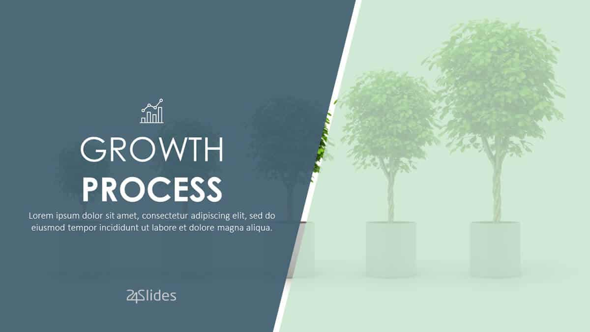 Growth Process PowerPoint Template cover slide